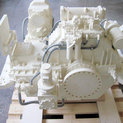 Messemodell eines Schiffsgetriebes